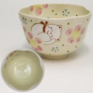 【茶器/茶道具 抹茶茶碗 干支「子」】 干支茶碗 陽だまり猫 東山深山作 (干支子 御題望)