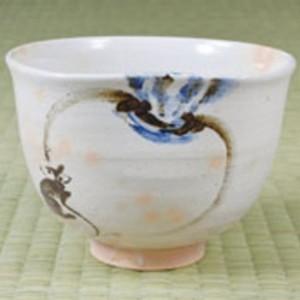 【茶器/茶道具 抹茶茶碗 干支「子」】 干支茶碗 蕪にねずみ 通次阿山作 (干支子 御題望)