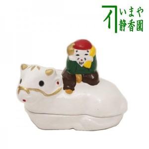 【茶器/茶道具 香合 干支「丑」】 干支香合 牛 蒲池窯 (干支牛 御題実)