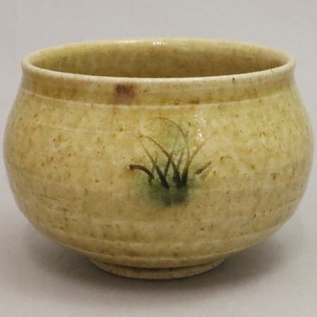 【茶器/茶道具 抹茶茶碗】 黄瀬戸 塩笥型 加藤唐三郎作