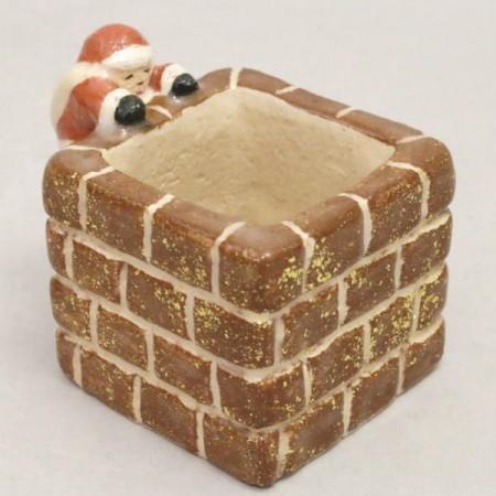 【茶器/茶道具 蓋置 クリスマス】 サンタクロース 煙突覗き 吉村楽入窯