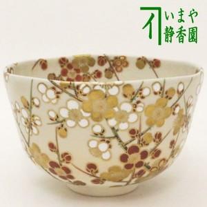 【茶器/茶道具 抹茶茶碗】 色絵茶碗 紅梅白梅 木全翁楽作
