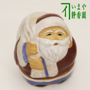 【茶器/茶道具 香合 クリスマス】 サンタクロース 浅見与し三作(吉峯窯)