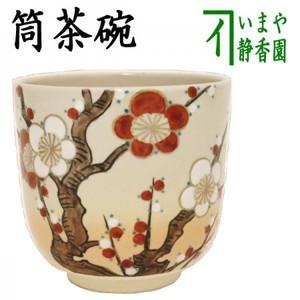 【茶器/茶道具 抹茶茶碗】 筒茶碗 御本手 紅梅白梅 水出宋絢作