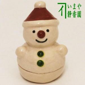 【茶器/茶道具 香合】 雪だるま(雪達磨) 伊東桂楽作