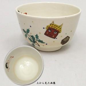 【茶器/茶道具 抹茶茶碗 節分】 仁清写し 豆撒き(豆まき) 川上真琴作