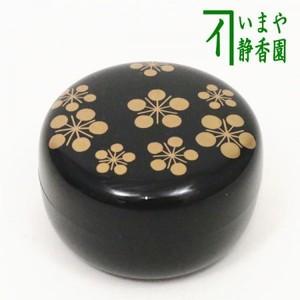 【茶器/茶道具 香合】 丸 白粉解 利休梅蒔絵 西村宗幸作