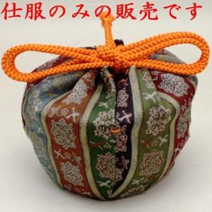 【茶器/茶道具 老松仕服(老松仕覆)】 老松茶器用 正絹 唐花雙鳥長範錦 龍村美術織物裂使用