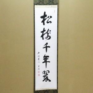【茶器/茶道具 掛軸(掛け軸)】 一行 松樹千年翠 前田宗源筆