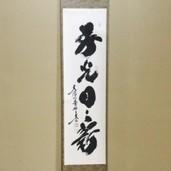 【茶器/茶道具 掛軸(掛け軸)】 一行 春光日々新 小林太玄筆