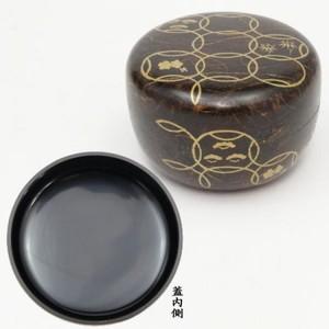 【茶器/茶道具 なつめ(お薄器)】 平棗 和紙張り 花七宝 筑城筑良作