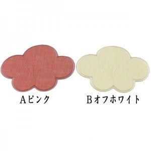 【コースター】 梅 ピンク又はオフホワイト 鎌谷辰美作