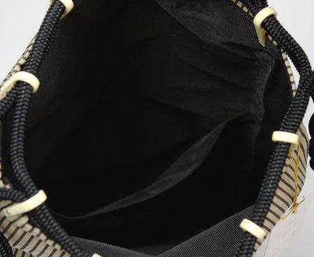 【日用品/雑貨 バッグ/袋物】信玄袋 京物 名物裂使用 国司間道 荒磯製(あらいそ)