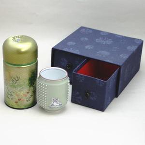 【日本茶 緑茶 煎茶 ギフトセット】 ツボ刺激 兎の絵コップ&香川県産 上煎茶セット