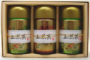 【日本茶/緑茶 ギフトセット(詰め合わせ・ご贈答)】 香川県産 上煎茶 3缶 各150g入 「缶入り」