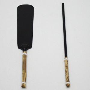 セット【茶器/茶道具 炭道具/灰道具】 火入用セット 灰押さえ(灰ならし)・筋棒セット