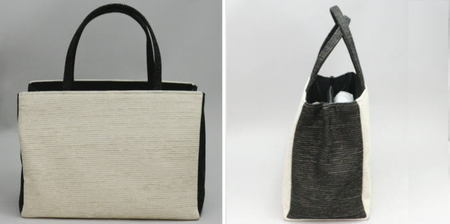 【日用品/雑貨 手提バッグ/トートバッグ】 紬バッグ
