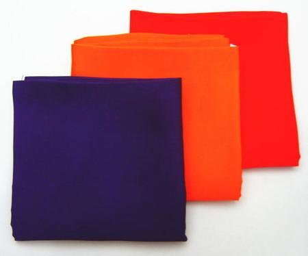 【茶道具 帛紗】 洗える帛紗 無地 正絹 紫又は朱又は赤 (服紗・袱紗・ふくさ)