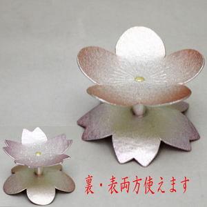 【茶道具・蓋置き】 モール蓋置  桜形又は梅形 木越政兵衛作(裏表両方使用)