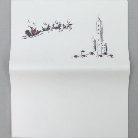 【茶器/茶道具 懐紙・季節の懐紙】 クリスマス柄 リース又は聖夜 各1帖~