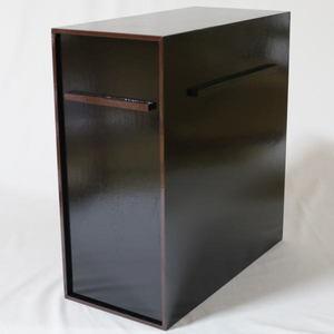 【茶道具/茶器 掛軸用品(掛け軸用品)】 掛軸収納箱 一行用 横型 10本用 掻合塗り