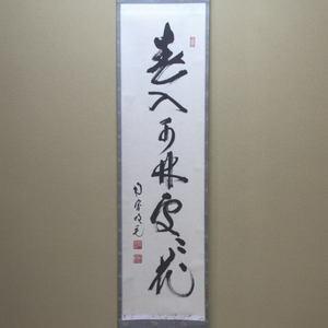 【茶器/茶道具 掛軸(掛け軸)】 一行 春入千林処々花 田島碩應筆