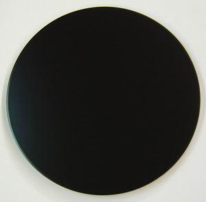 【茶道具・釜用敷板・長板/お棚】 小板 丸(尺0) 上本漆 黒塗 木製