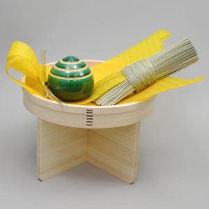 【茶道具 お正月飾り 床飾り・熨斗押え】 (宝珠)熨斗押さえ・長熨斗(あわびのし)・丸三宝7号セット