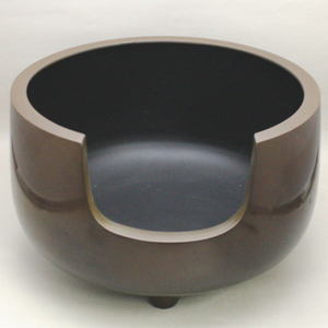 取寄せ品【茶道具 風炉】 道安風炉 尺ーサイズ 唐銅製