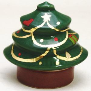 【茶道具 香合/炉用】 クリスマスツリー 西尾瑞豊作