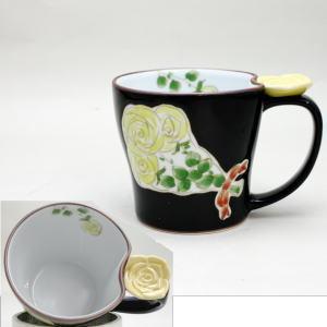 【マグカップ 湯呑/父の日 コップ】 有田焼 花束 バラ