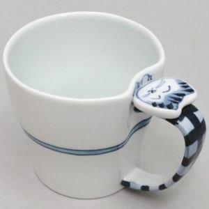【マグカップ/コップ】 有田焼き 染付 福ネコ