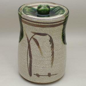 【茶器・茶道具 水指(中置)】 細水指 織部 和陶窯