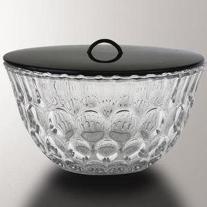 【茶器/茶道具 水指】 ガラス(硝子) 平水指 水玉 長寿作 【smtb-KD】