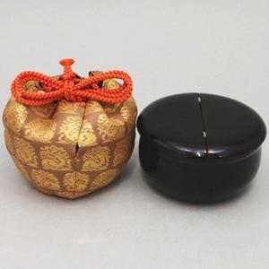 【茶器/茶道具 なつめ&仕服(仕覆)】 老松茶器&仕服:花兎セット