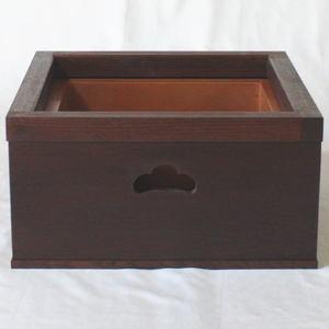 【茶器/茶道具 置炉】 置炉(女桑製)(電熱のコードがスムーズに通せます)