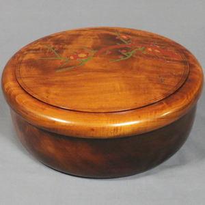 【煎茶道具】 茶櫃(茶びつ/茶ひつ) 梅 尺一 栃材
