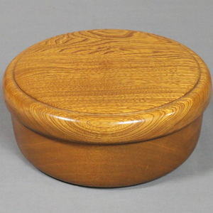 【煎茶道具】 茶櫃(茶びつ/茶ひつ) 欅製(栓) 尺一
