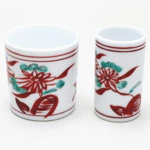 【煎茶道具】 盆巾筒/茶巾筒 有田焼き 万歴赤絵(萬歴赤絵) 仙月作