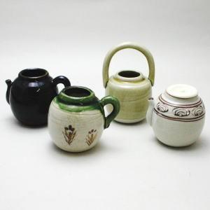セット【茶道具 茶入セット 濃茶器】 四滴茶入 蓋1個付 加藤五陶作