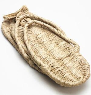【日用品/雑貨 草鞋(わらじ)(わら草履の代用)】 洗える紙製品 エコ紙草履(ぞうり) Mサイズ 1足~ 露地草履に