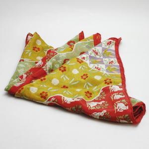 【日用品/雑貨 アクセサリー】 スカーフ 正絹 道長名物裂取 荒磯(あらいそ)製