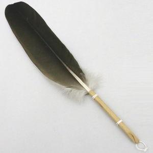 【茶器/茶道具 炭道具】 羽箒(はぼうき) 黒鶴 炉用