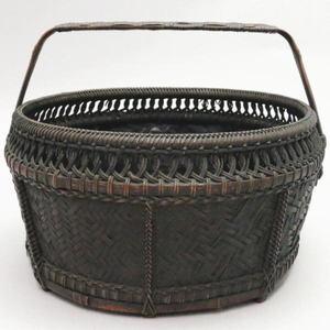 【茶器/茶道具 炭道具】 唐物写し 手付炭斗籠