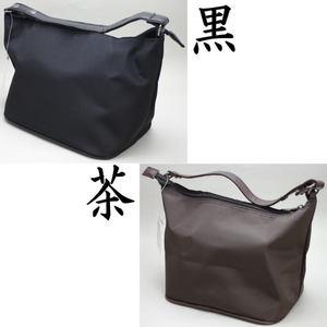 【茶器/茶道具 バック式正座椅子(座イス・閑座)】 座れるバッグ 黒又は茶(桧皮:ひわだ)