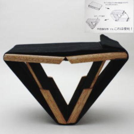 【正座椅子(座イス)】販売中止 三角コンパクト正座椅子 中