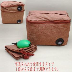【茶器/茶道具 閑座(正座椅子)】 2WAYエアー正座クッション あずき色 鮫小紋柄