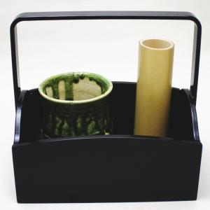 茶道具 セット【茶器/茶道具・煙草盆・莨盆(クシ形)】手付 櫛型煙草盆セット 小
