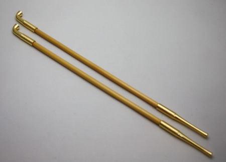 【茶道具・煙草盆・莨盆】 煙管 真鍮 表千家用 長さ:35cm