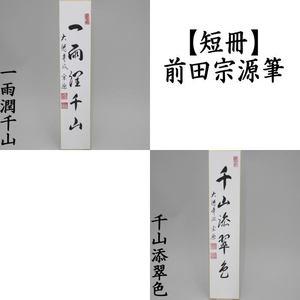 【茶器/茶道具 短冊】 直筆 一雨潤千山又は千山添翠色 前田宗源筆